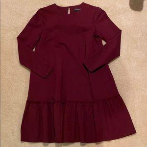Burgundy dress. Size 4.